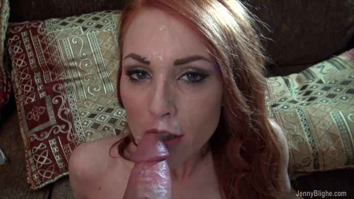ManyVids Video with Jenny Blighe - Breakup BJ, Huge Facial!